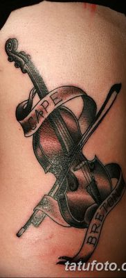 фото тату Скрипка от 26.12.2017 №074 – tattoo Violin – tatufoto.com