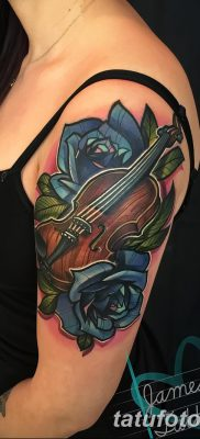 фото тату Скрипка от 26.12.2017 №076 – tattoo Violin – tatufoto.com