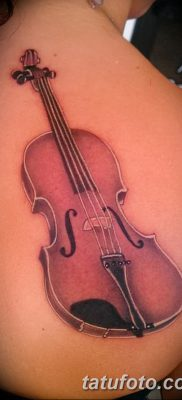 фото тату Скрипка от 26.12.2017 №085 – tattoo Violin – tatufoto.com