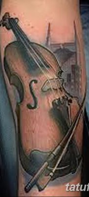 фото тату Скрипка от 26.12.2017 №088 – tattoo Violin – tatufoto.com