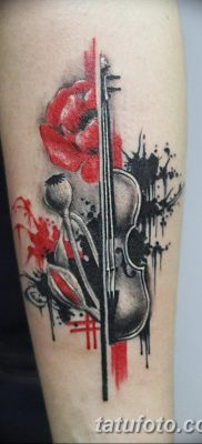 фото тату Скрипка от 26.12.2017 №092 – tattoo Violin – tatufoto.com