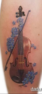 фото тату Скрипка от 26.12.2017 №096 – tattoo Violin – tatufoto.com