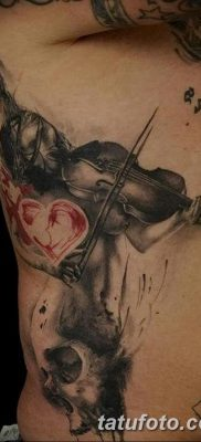 фото тату Скрипка от 26.12.2017 №099 – tattoo Violin – tatufoto.com
