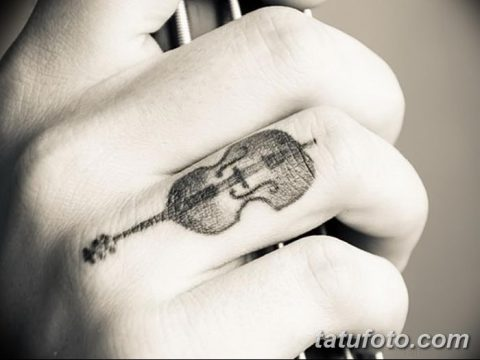 фото тату Скрипка от 26.12.2017 №106 - tattoo Violin - tatufoto.com