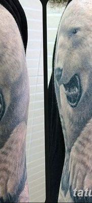 фото тату белый медведь от 03.12.2017 №002 – white bear tattoo – tatufoto.com