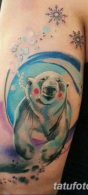 фото тату белый медведь от 03.12.2017 №003 – white bear tattoo – tatufoto.com
