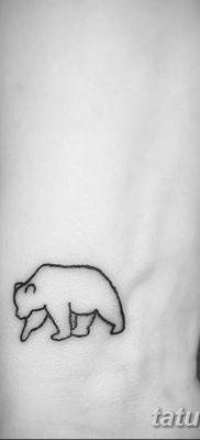 фото тату белый медведь от 03.12.2017 №012 – white bear tattoo – tatufoto.com