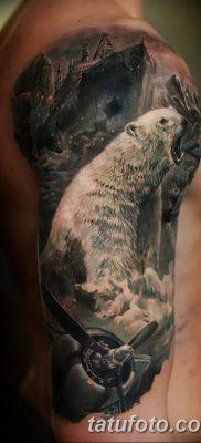 фото тату белый медведь от 03.12.2017 №015 – white bear tattoo – tatufoto.com
