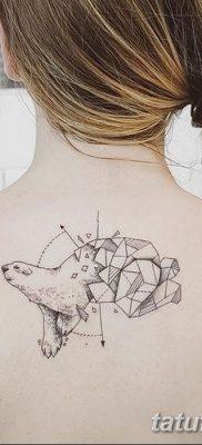 фото тату белый медведь от 03.12.2017 №023 – white bear tattoo – tatufoto.com