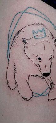 фото тату белый медведь от 03.12.2017 №025 – white bear tattoo – tatufoto.com