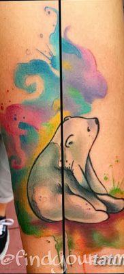 фото тату белый медведь от 03.12.2017 №026 – white bear tattoo – tatufoto.com