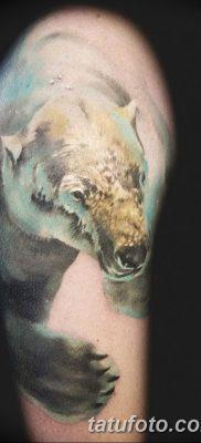фото тату белый медведь от 03.12.2017 №029 – white bear tattoo – tatufoto.com