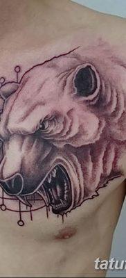 фото тату белый медведь от 03.12.2017 №032 – white bear tattoo – tatufoto.com