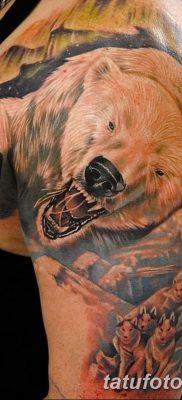 фото тату белый медведь от 03.12.2017 №037 – white bear tattoo – tatufoto.com