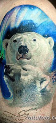фото тату белый медведь от 03.12.2017 №038 – white bear tattoo – tatufoto.com