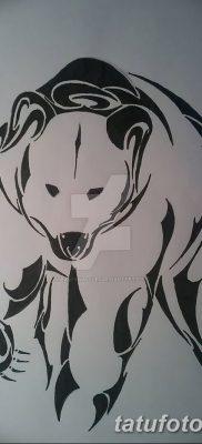 фото тату белый медведь от 03.12.2017 №039 – white bear tattoo – tatufoto.com
