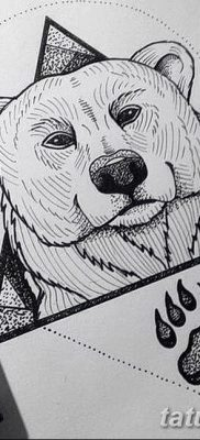 фото тату белый медведь от 03.12.2017 №053 – white bear tattoo – tatufoto.com