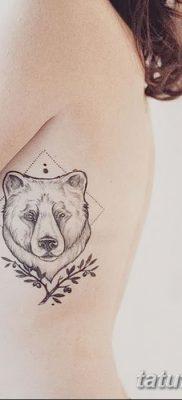 фото тату белый медведь от 03.12.2017 №062 – white bear tattoo – tatufoto.com
