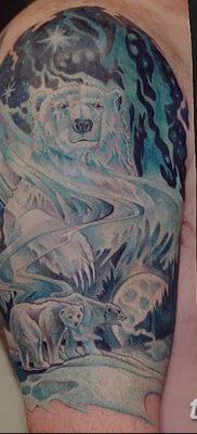 фото тату белый медведь от 03.12.2017 №066 – white bear tattoo – tatufoto.com