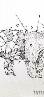 фото тату белый медведь от 03.12.2017 №067 – white bear tattoo – tatufoto.com