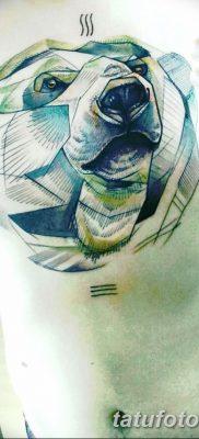фото тату белый медведь от 03.12.2017 №070 – white bear tattoo – tatufoto.com