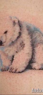фото тату белый медведь от 03.12.2017 №080 – white bear tattoo – tatufoto.com