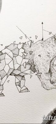 фото тату белый медведь от 03.12.2017 №117 – white bear tattoo – tatufoto.com
