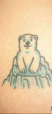 фото тату белый медведь от 03.12.2017 №125 – white bear tattoo – tatufoto.com