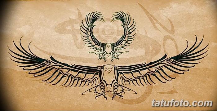 фото тату беркут от 10.12.2017 №038 - golden eagle tattoos - tatufoto.com