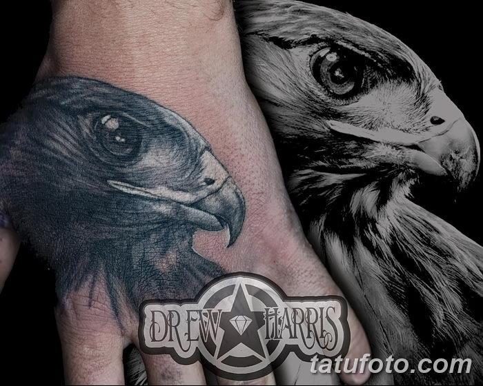фото тату беркут от 10.12.2017 №063 - golden eagle tattoos - tatufoto.com