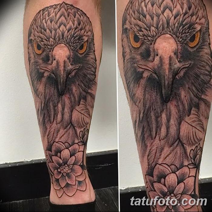 фото тату беркут от 10.12.2017 №069 - golden eagle tattoos - tatufoto.com