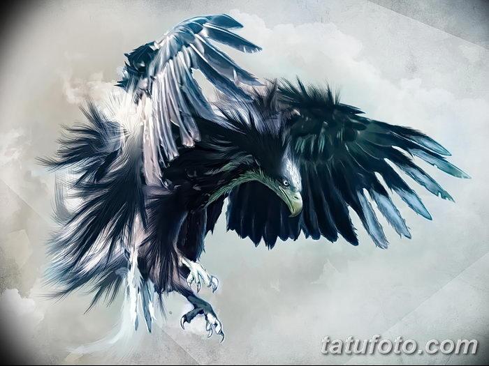 фото тату беркут от 10.12.2017 №082 - golden eagle tattoos - tatufoto.com 2356236234