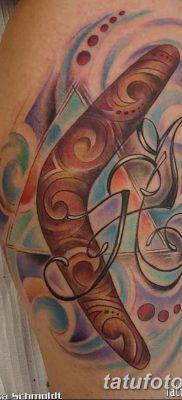 фото тату бумеранг от 10.12.2017 №044 – boomerang tattoo – tatufoto.com