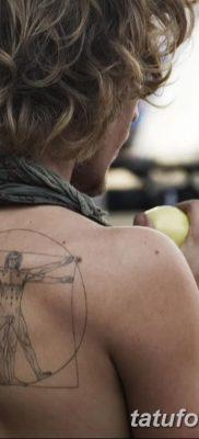 фото тату витрувианский человек от 07.12.2017 №001 – Vitruvian man tattoo – tatufoto.com