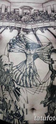 фото тату витрувианский человек от 07.12.2017 №004 – Vitruvian man tattoo – tatufoto.com
