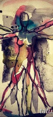 фото тату витрувианский человек от 07.12.2017 №006 – Vitruvian man tattoo – tatufoto.com