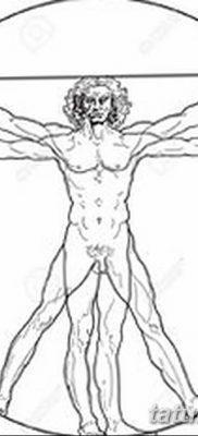 фото тату витрувианский человек от 07.12.2017 №007 – Vitruvian man tattoo – tatufoto.com