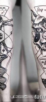 фото тату витрувианский человек от 07.12.2017 №009 – Vitruvian man tattoo – tatufoto.com