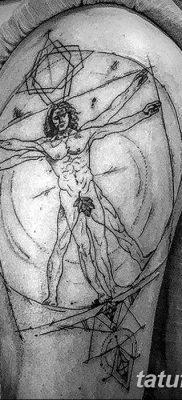 фото тату витрувианский человек от 07.12.2017 №014 – Vitruvian man tattoo – tatufoto.com