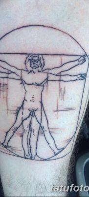 фото тату витрувианский человек от 07.12.2017 №015 – Vitruvian man tattoo – tatufoto.com