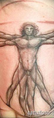 фото тату витрувианский человек от 07.12.2017 №016 – Vitruvian man tattoo – tatufoto.com