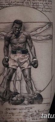 фото тату витрувианский человек от 07.12.2017 №018 – Vitruvian man tattoo – tatufoto.com
