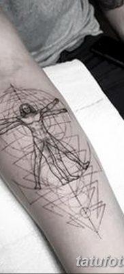 фото тату витрувианский человек от 07.12.2017 №020 – Vitruvian man tattoo – tatufoto.com