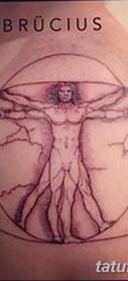 фото тату витрувианский человек от 07.12.2017 №021 – Vitruvian man tattoo – tatufoto.com
