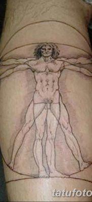 фото тату витрувианский человек от 07.12.2017 №022 – Vitruvian man tattoo – tatufoto.com