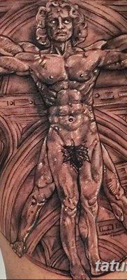 фото тату витрувианский человек от 07.12.2017 №023 – Vitruvian man tattoo – tatufoto.com