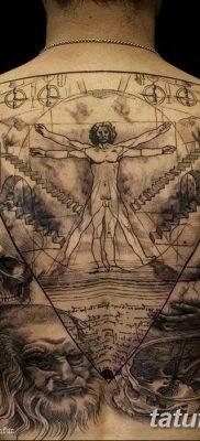 фото тату витрувианский человек от 07.12.2017 №024 – Vitruvian man tattoo – tatufoto.com