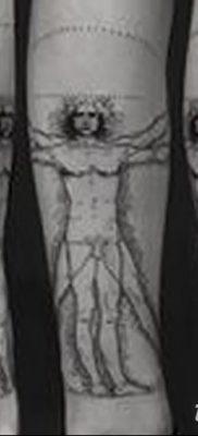 фото тату витрувианский человек от 07.12.2017 №026 – Vitruvian man tattoo – tatufoto.com