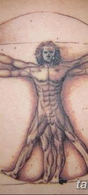 фото тату витрувианский человек от 07.12.2017 №027 – Vitruvian man tattoo – tatufoto.com