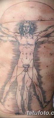 фото тату витрувианский человек от 07.12.2017 №028 – Vitruvian man tattoo – tatufoto.com